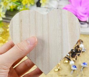 حار تخزين مربع شكل قلب الخشب والمجوهرات مربع هدية الزفاف ماكياج التجميل أقراط الطوق مكتب rangement المكياج منظم خشبي