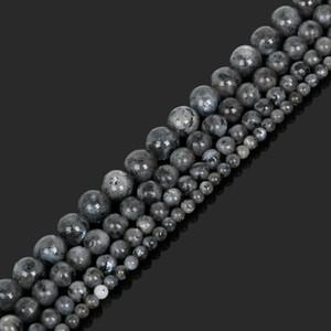 8mm Naturstein Schwarz-Mondstein-runde lose Korn DIY Ohrring Armband, das 4 6 8 10 mm