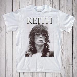 Keith Richards T-shirt Qualità Magliette Uomo Stampa Manica corta O Collo Maglietta O Collo Magliette Maschio Prezzo basso Steampunk