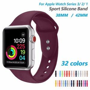 Silicone Sport Band series 3 2 1 Remplacement Bracelet Sport Bracelet Poignet 38mm 42mm Soft Loop