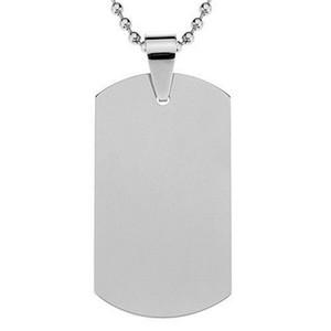 Tag di cane in acciaio inox Tag casual militare in bianco militare carte di alta durezza Tag Pet Vendita calda 2gg BB