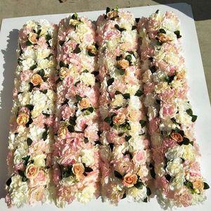 4 adet / Pivilon, geçit, Sahne, Stand çok 1 mL x25cm W / adet güzel çiçek Row, Tablo runner düğün Dekorasyon