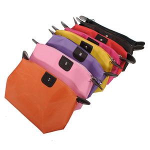 Waterproof Nylon Cosmetic Makeup Bags Handbag Purse Pouch Zipper 9 Colors Nice Design Reusable Portable Cosmetic Bags A310