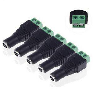 Connecteurs CC femelles de 5,5 mm x 2,1 mm Connecteurs d'alimentation mâles à fiche mâle pour adaptateurs secteur