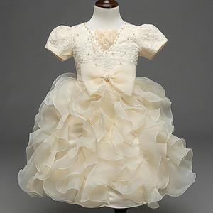 Robe de mariage des enfants chauds arc robe d'anniversaire mignon anniversaire nouveau style