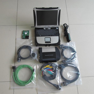 ferramenta de diagnóstico automotivo com mb estrela c4 com tela de laptop cf19 toque para STAR pelo MB sd conectar c4