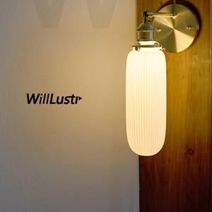 branco plissado parede de cerâmica porcelana parede lâmpada sconce luz de bronze luminária china sombra dinning quarto quarto restaurante hotel luz de cabeceira