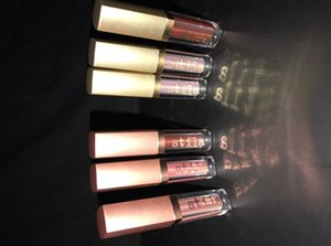 New Arrival Stila Lipgloss Cosmetics eye for elegance Shimmer & Glow + Glitter & Glow 6pcs mix color each set Drop shipping