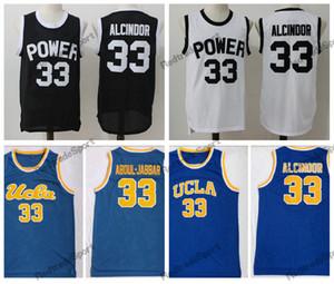 Mens Vintage 33 Lewis Alcindor Jr. Power Memorial Academy Jersey de baloncesto de la escuela secundaria UCLA Bruins Kareem Abdul-Jabbar camisetas cosidas