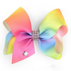 4inch clips cheveux fille RARE Jojo Grandes épingles à cheveux arc avec des arcs de cheveux diamant enfants boutique arcs en ciel