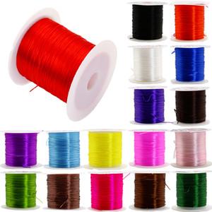 0.8 mm DIY 크리스탈 구슬 스트레치 코드 탄성 라인 투명 클리어 라운드 구슬 와이어 / 코드 / 문자열 / 스레드 쥬얼리 만들기