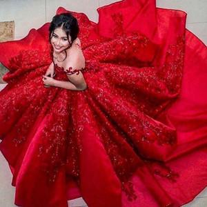 Sparkly Dubai Celebrity Evening Dres Sheer Jewel Neck Cap Рукавом Бисер Кружева Аппликация Красный Ковер Платья Великолепные Пушистые Саудовские Платья Выпускного Вечера