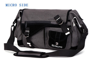 Huwang Photo Camera DSLR Video Canvas Shoulder Waterproof Bag Travel Tripod Soft Padded Case Carrying Bags for Canon Nikon SLR