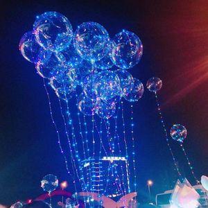 BoBo Topu Balon Aydınlık LED Şeffaf BoBo Balon 20 inç Renkli Işık Balon Doğum Günü Düğün Festivali Parti Dekoratif 983