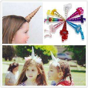 Infant Unicorn Horn Headband Elastic Hairband Easter Bonus For Girls Birthday Party DIY Hair Halloween Baby Decorative Accessories Y190