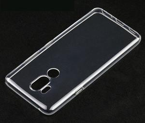 1.0mm Crystal Clear Soft TPU funda para LG Q6 Q7 Q8 V30 V40 G5 G6 G7 100PCS