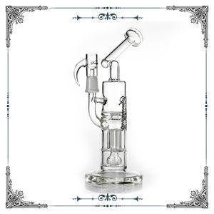 Souveraineté plates-formes pétrolières en verre bong 5 bras pilier perchloréthylène et maillées Imperial percolateur bangs fumer tuyau d'eau en verre barboteur bong narguilé