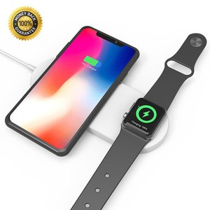 SUNBOST 2 in 1 무선 충전기 고속 충전 패드 Apple Watch 시리즈 3/2 및 iphone x / 8 / 8plus, Samsung Galaxy 용