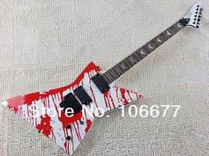 Frete Grátis LTD Explorer Custom Shop DJ-500 Lágrimas de Sangue James Hetfield EMG Pickup Ativo Floyd Rose Guitarra Elétrica