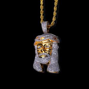 2018 Nova Arrivel Hip Hop pedaço Cristo 24K banhado a ouro Cabeça de Charme Jesus Homens Pendant Religiosa Católica Jesus Rosto Pendant Jewelry