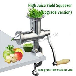 Нержавеющая сталь пырей сок экстрактор модернизированный ручной овощи пшеничная трава соковыжималка Прессер с высоким выходом сока новый