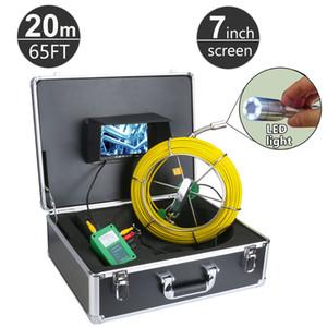 20M / 65ft 하수 파이프 파이프 라인 드레인 검사 시스템 9 인치 LCD 모니터 1000TVL 뱀 배수 방수 파이프 벽 비디오 카메라