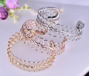 Прямые продажи розовое золото женщин простой сокращение браслет корейский Multi-circle шампанское золотой браслет