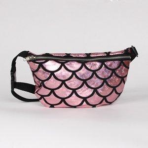 DHL Mermaid Sequin Clutch Bag 16 * 23 cm épaule messager sac taille sac à main pour femmes Cosmetic Storage Bag