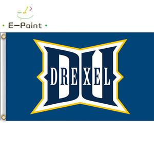 Bandera de NCAA Drexel Dragons Newly poliéster Bandera 3 pies * 5 pies (150 cm * 90 cm) Bandera Decoración de la bandera volando jardín de su casa regalos al aire libre