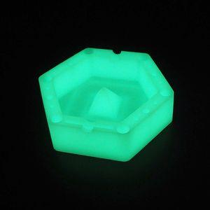 karanlık altıgen silikon küllük ısıya dayanıklı kül tablaları kolay temizlik kolay temizlik kül tablaları için dostu silikon küllük
