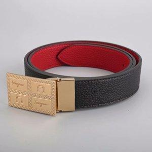 Cinturones de marca de moda Cinturones de hombre Diseñador de lujo y Cinturones de hebilla plana de alta calidad para mujer Cinturones de lujo.