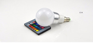 Dimmable E27 E14 GU10 85-265V 110V 220V 3W 10W RGB LED ampoule LED lampe veilleuse spot + télécommande pour la lumière de vacances