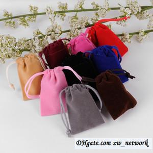 Logotipo personalizado 7 * 9 cm sacos de Jóias de Flanela de Veludo Brincos Anel saco Flanela Pacote de bolso Preto bolsas de Jóias sacos de celular multicolors