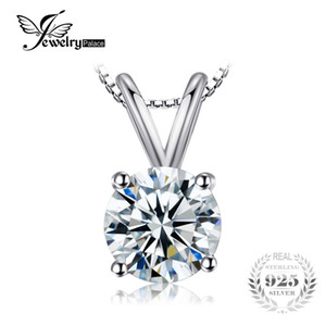 JewelryPalace Classic Round 1ct Solitaire Pendant Genuine 925 gioielli in argento sterling per le donne non includere un pendente a catena