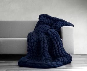 Tejer tiro cama dormitorio tejido a mano brazo tejer sofá manta manta gruesa acrílico hecho a mano sofá cama macizo tiro súper