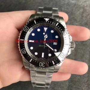 Best Edition Moda Saatı NFactory V7 44mm Deniz-Dweller 116660 D-Mavi Siyah Seramik Çerçeve ETA Hareketi Otomatik Mens Watch Saatler