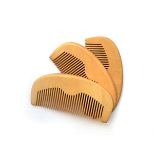 Your LOGO Customized Combs Engraved Logo Natural Wood Comb Beard Comb Wooden Comb Carve Your Name Mens Grooming Business Promotion Gifts