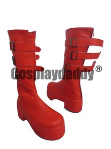 Anime One Piece Perona Punk Red Cosplay Stivali Scarpe