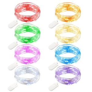 Wrumava 2M 20 LED à piles LED fil de cuivre String Light pour la fête de Noël guirlande décoration de mariage de Noël Fées