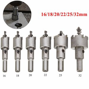 6pcs 16-32mm acciaio carburo con punta punta da trapano in metallo foro sega in lega cutter