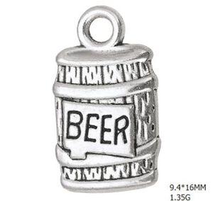 Aleación de zinc Botella de cerveza Encantos flotantes DIY Bebida Fabricación de joyas Accesory