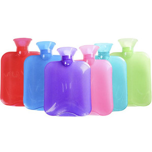 Wholesale DHL-Rubber Hot Water Bottle Premium Classic Transparent Hot Water Bottles Ideal For Pain Relief, Muscle Relaxation & Comfort Use