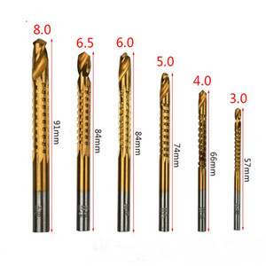 drill bit hot new product 6 in 1 high speed electric drill tool set for thin wood aluminium alloy and plastic board