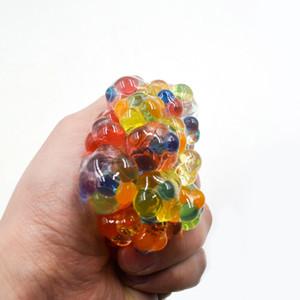 Nouveauté Anti Stress Maille Visage Reliever Raisin Balle Autisme Humeur Squeeze Relief Sain Jouet Drôle Gadget Vent Décompression Jouets Cadeaux WX9-388