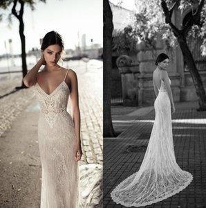 Gali Karten 2020 della sirena del merletto da sposa abiti senza schienale spalline Appliqued merletto nozze Abiti da sposa robe de mariée