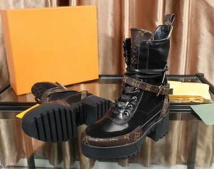 Alta calidad para mujer de Martin botas de cuero de lujo de las mujeres patea los zapatos Zapatos de Altura Clásico Botas xx18081208