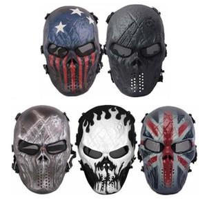 Nueva máscara de protección de la fiesta del cráneo de Halloween máscara de Navidad montando la cara completa ejército equipo de CS de campo de acción en vivo al aire libre