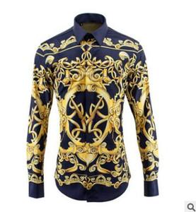 ربيع وصيف قمصان رجالية مرحلة الرياح طليعي بأكمام طويلة غير الحديد الرقمية 3D نماذج الطباعة ثلاثية الأبعاد السيد قميص معطف عالية التأهيلية