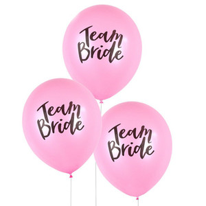 Team Bride Latex Balloon For Wedding Party Bachelorette hen Decoration Party Supplies