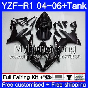 Cuerpo + tanque para YAMAHA YZF R 1 YZF-1000 YZF 1000 YZFR1 04 05 06 232HM.0 YZF1000 YZF-R1 04 06 YZF R1 2004 2005 2006 Fábrica de carenado Brillo negro